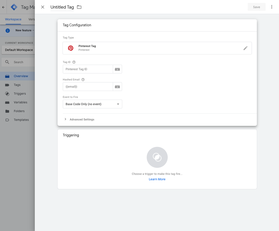 Tag Configuration in Google Tag Manager